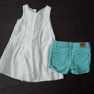 Lot of 2 - DKYN shorts and white dress